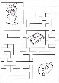 Mazes For Kids Printable, Printable Preschool Worksheets, Preschool Learning Activities, Kindergarten Worksheets, Worksheets For Kids, Math For Kids, Puzzles For Kids, Maze Worksheet, Material Didático