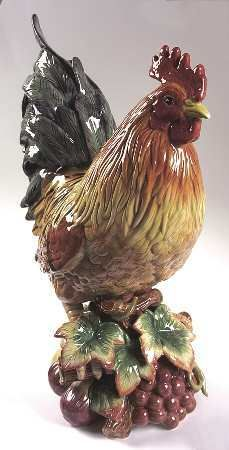 "Fitz and Floyd 17 1/2"" Country Gourmet Rooster"