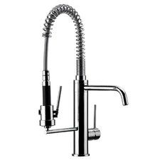 Jewel Faucets Kitchen Series Single Lever Single Hole Commercial Kitchen Faucet with Swivel Spout and Commercial Sprayer Finish: Chrome Best Kitchen Faucets, Bathroom Faucets, Kitchen And Bath, Commercial Faucets, Commercial Kitchen, Martha Stewart, Tabletop, Industrial Style Kitchen, Table