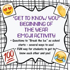 1st day of school activity - great for when you don't know your students yet.  Great way to break the ice that first week of school!