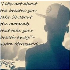 Love this quote ❤ By Aston Merrygold
