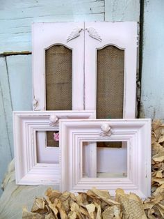 Pale pink angel frames with shutter shabby by AnitaSperoDesign, $87.00