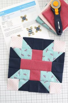 Riley Blake Quilt Block Challenge #11 | Diary of a Quilter - a quilt blog Quilt Block Patterns, Pattern Blocks, Quilt Blocks, Oxford Blue, Riley Blake, Flower Show, Summer Flowers, Free Pattern, Bee