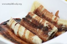 Guilt-Free Dessert {baked bananas with chocolate} -