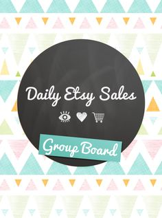 Leave me a message by commenting on this pin to request an invite to this group board! Exclusively for Daily Etsy Sales team members.