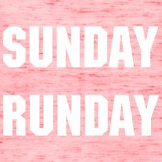 SUNDAY RUNDAY Tank | Be Fit Tees