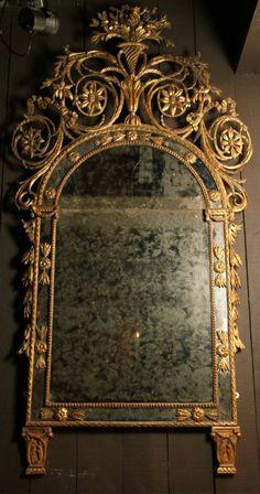A rare 18th century Piedmontese mirror
