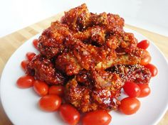 Seasoned fried chicken (Yangnyeom tongdak)