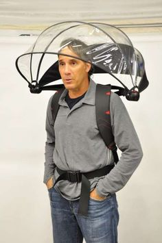 Hands Free Umbrella - I don't know how people would respond if I wore this