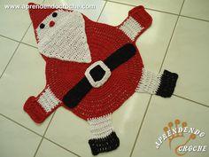 Tapete de Crochê Papai Noel - Receita de Croche