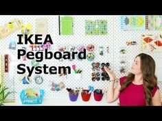 12 of the BEST IKEA Craft Rooms - plus FREE shopping list! SMART ideas for organizing craft supplies for craft rooms, sewing rooms, scrapbook rooms .