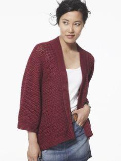 Soft Drape Kimono Jacket | Yarn | Free Knitting Patterns | Crochet Patterns | Yarnspirations