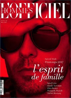 Jared Leto covers L'Officiel Hommes Paris in a pair of Carrera sunglasses.
