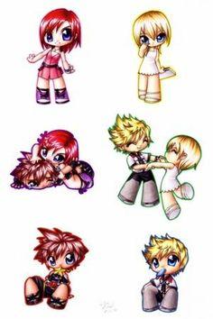 Kingdom Hearts Namine, Roxas, Sora, Kairi -Google Search