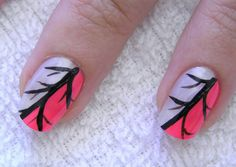 neon tree branch manicure
