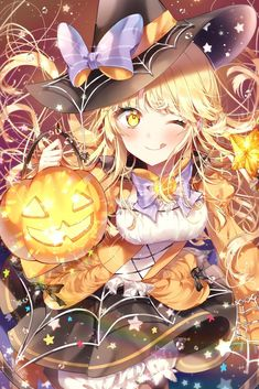 Especially cute anime girls and boys being cute. Content from anime, manga,. Manga Girl, Anime Witch, Anime Halloween, Halloween 2019, Kawaii Anime Girl, Anime Art Girl, Anime Girls, 5 Anime, Estilo Anime