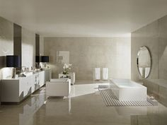 Floor and wall tiles from collection ETERNITY. White Mirror, Kitchen Tiles, Beautiful Bathrooms, Tile Design, Bathroom Inspiration, Tile Floor, Modern, Architecture Design, Flooring