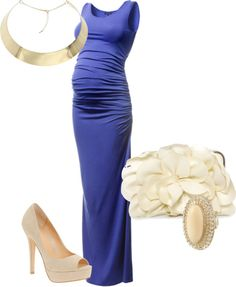 A fashion look from August 2012 featuring ALDO pumps, Rare London clutches and Miso rings. Browse and shop related looks. Pregnancy Looks, Pregnancy Outfits, Pregnancy Style, Pregnancy Fashion, Pregnancy Info, Maternity Gowns, Maternity Fashion, Maternity Evening Wear, Maternity Style
