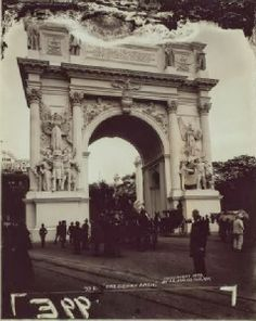 The NewYorkologist: The Dewey Arch in Madison Square Park, 1899