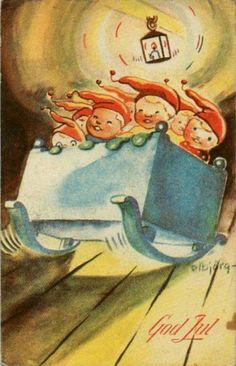 Julekort Elbjörg Øien
