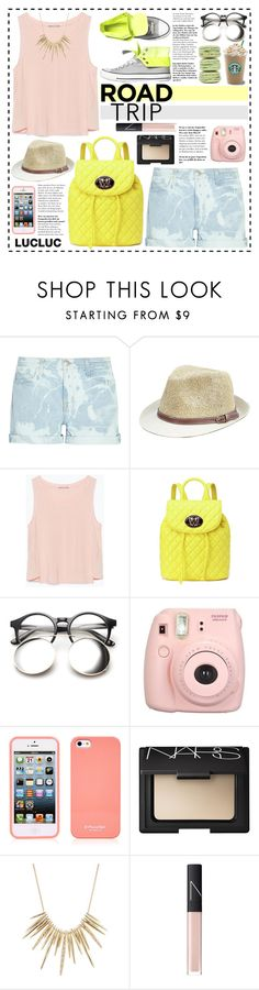 """""""Look #470 (Road Trippin' in Style) (LUCLUC 3.12)"""" by lookat ❤ liked on Polyvore featuring Current/Elliott, Zara, Converse, Love Moschino, NARS Cosmetics, Alexis Bittar, Summer, casual, roadtrip and lucluc"""