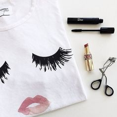 "SALE Fashion EyeLashes & Pink Lips T-Shirt  ✨5x HOST PICK✨Gorgeous, Fashion and Very Soft T-Shirt                                                                     ✨TRUE TO SIZE✨                                                                XS - Bust 34""-36"""" Length 22-23""  S - Bust 36-38"" Length 24.5""  M - Bust 39"" Length 24.5""                                                L - Bust 42"" Length 24-24.5""                                          XL - Bust 45"" Length 25"" Boutique Tops Tees…"