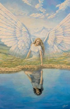 ✨We are all part of the angelic realm we just need to remember✨ Vladimir Kalinin --The Reflection (2003)