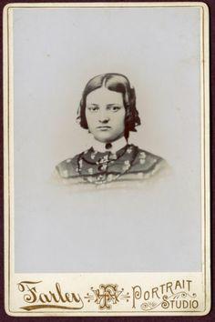 Antique Cabinet Photo Lovely Young Woman Farley Studio ID Carolina Cleveland | eBay