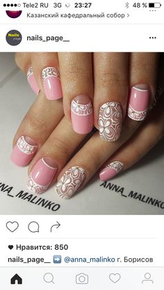 🌒Use in lunar manicure design rhinestones, sequins and foil. Moon Manicure, Manicure E Pedicure, Soft Gel Nails, Pink Nails, Cute Nails, Pretty Nails, Airbrush Nails, Latest Nail Art, Wedding Nails Design
