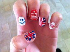 English themed nails