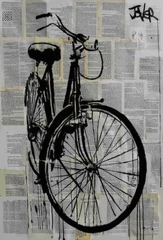 "Saatchi Art Artist Loui Jover; Drawing, ""bike"" #art"