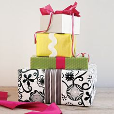 Gift wrapping party tips including RR menu!