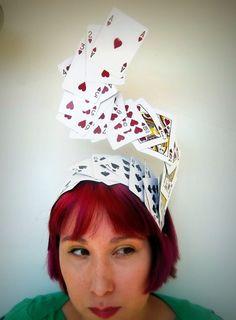 Swirling Deck Of Cards, Headpiece, Fascinator, Cocktail Hat, Alice In… Crazy Hat Day, Crazy Hats, Las Vegas Kostüm, Fascinator, Alice In Wonderland Tea Party, Cocktail Hat, Mad Hatter Tea, Red Hats, Queen Of Hearts