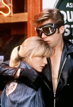 Maxwell Caulfield and Michelle Pfeiffer - Grease 2 Grease 2, Grease Movie, Grease Party, Maxwell Caulfield, Grease Is The Word, Michelle Pfeiffer, 2 Movie, High Society, Celebrity Photos
