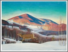 Rockwell Kent (1882-1971), Mount Equinox, Winter - 1921
