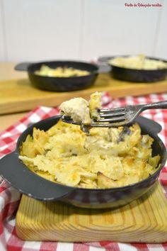 Ponto de Rebuçado Receitas: Gratinado ligeiro de massa, peru e cogumelos