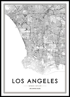 Los Angeles Poster in the group Posters & Prints / Maps & cities at Desenio AB Wallpaper Ciudades, Map Los Angeles, Poster 70x100, Carte New York, Buy Posters Online, Art Online, Prints Online, Love One Another Quotes, Miami Map