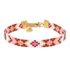 Beads-armbandje 'Bordeaux & Cream' - Mint15