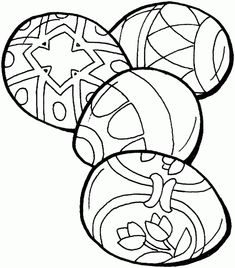 Four Easter eggs - Free Printable Coloring Pages