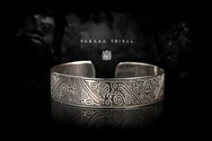Borneo Etched Tribe Cuff by ViatheEars on Etsy Tribal Bracelets, Tribal Jewelry, Nickel Silver, Borneo, Rings For Men, Jewellery, Etsy, Men Rings, Jewels