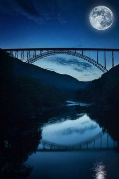 New River Gorge, WV  Whitewater rafted here. It's so beautiful