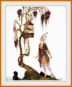 1915 The Muse- Tales from the Arabian nights - Art by Willy Pogany