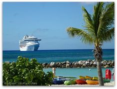 To Princess Cays on a Cruise. It's a great way to spend a beach day with your kids.