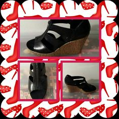 NWB Black Wedge Sandals FINAL MARKDOWN NWB New Woman's Black Wedge Sandals By Aerosoles Size 10 Medium. There's A Zipper For Easy Access On Top. Very Cute & Comfortable. ( I LITERALLY HAD THESE DELIVERED AND NEVER WORE THEM ) POSTED ON MER_CARI CODE: CQUAAW  AEROSOLES Shoes Sandals