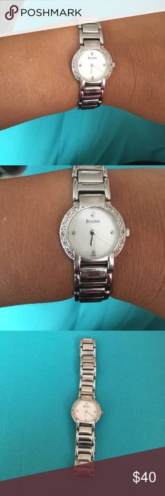 Bulova ladies watch! Bulova ladies watch in silver. Needs new battery but otherwise in good condition! Bulova Accessories Watches
