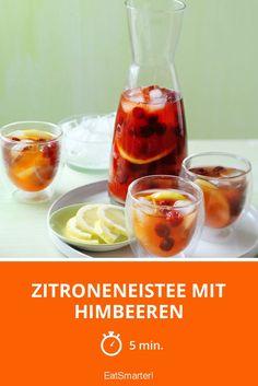 Zitroneneistee mit Himbeeren