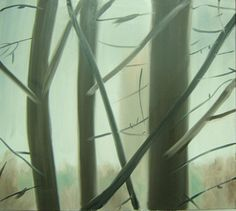 'Winter' oil on canvas, 100 x 100cms, 2009