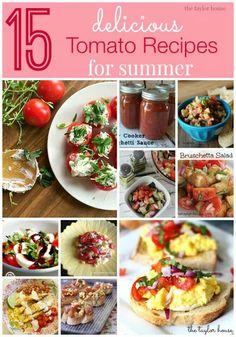 15 tomato tecipes for summer