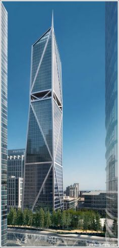 proposed San Francisco skyscraper, 181 Fremont rendered - business on the bottom, residential on top. SFREsource.com