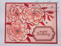 Paper Pumpkin - April 2019 - Sentimental Rose.  Click on link to see all of my alternative Sentimental Rose PP Cards. Birthday Cards, Happy Birthday, Stampin Up Paper Pumpkin, Pumpkin Ideas, Stampin Up Cards, Handmade Cards, Mixed Media, Alternative, Scrapbooking